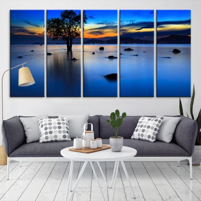 58654 - Sea and Beach Wall Art Large Canvas Print
