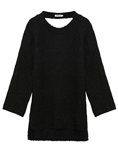 BOYLYMIA® Women's Long Sleeve Oversize Backless Pullover Loose Long Sweater Dress(Black,Medium) Boylymia http://www.amazon.com/dp/B01AFHABZQ/ref=cm_sw_r_pi_dp_NVUOwb0MF7SVF