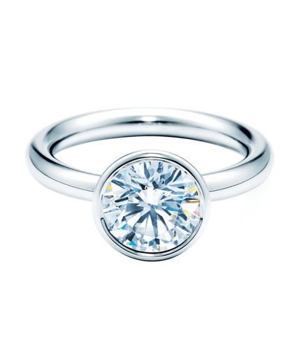 Round Cut Engagement Rings  Tiffany Bezet Round Engagement Ring  To buy: tiffany.com for more info.  For more information on this diamond shape, see The  Round Cut Engagement Ring.