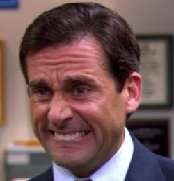 Michael Scott, cry face. This is my face most of the time.