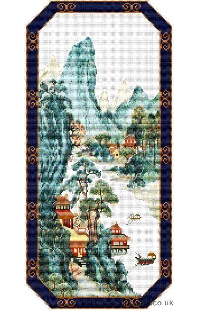 Fujian - Oriental Cross Stitch Kit from Classic Embroidery