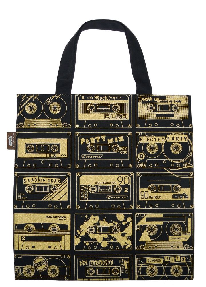 Mini Moderns C-60 tote in gold & black from Totes Amazed £15.00