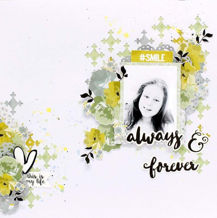 Neat and Crafty: Always and Forever Layout | #ScraptheGirls  June Challenge #kaisercraft