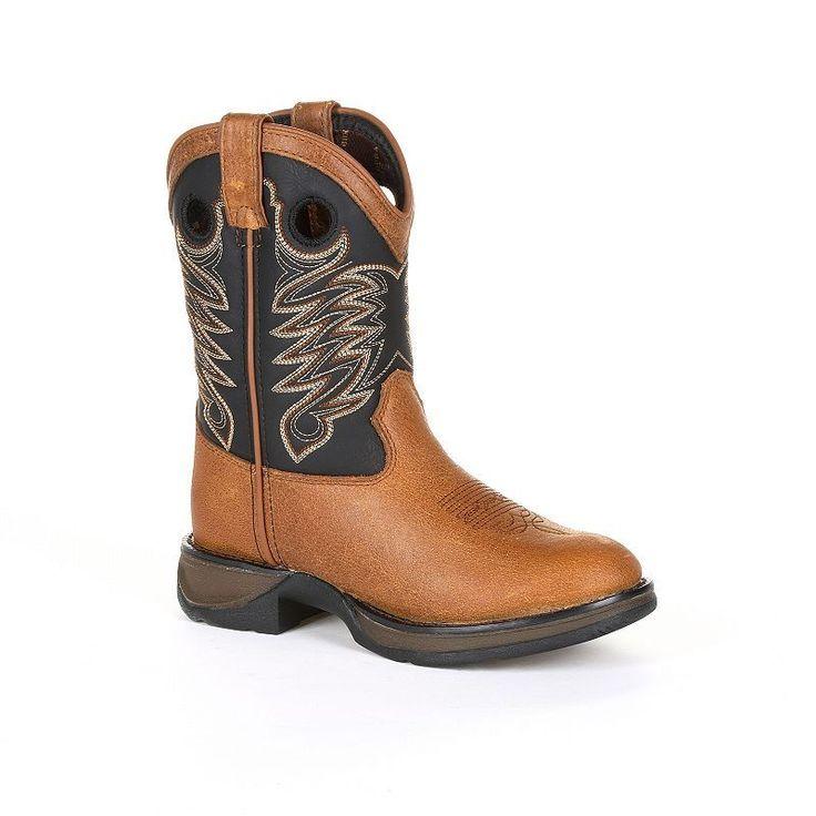 Lil Durango Sadle Kids Western Boots, Kids Unisex, Size: 3.5, Brown