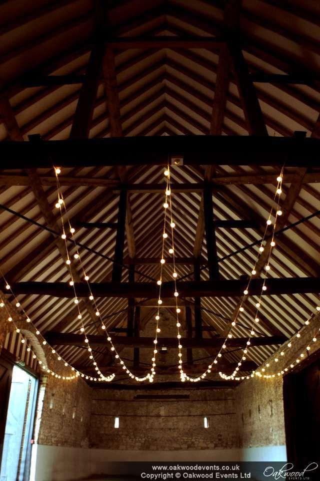 Festoon canopy in the main barn