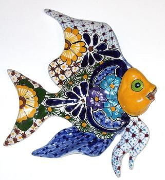 Talavera Fish :) @Joyce Novak Novak Novak strohl hope they have some this year at Fishmas in Texas!