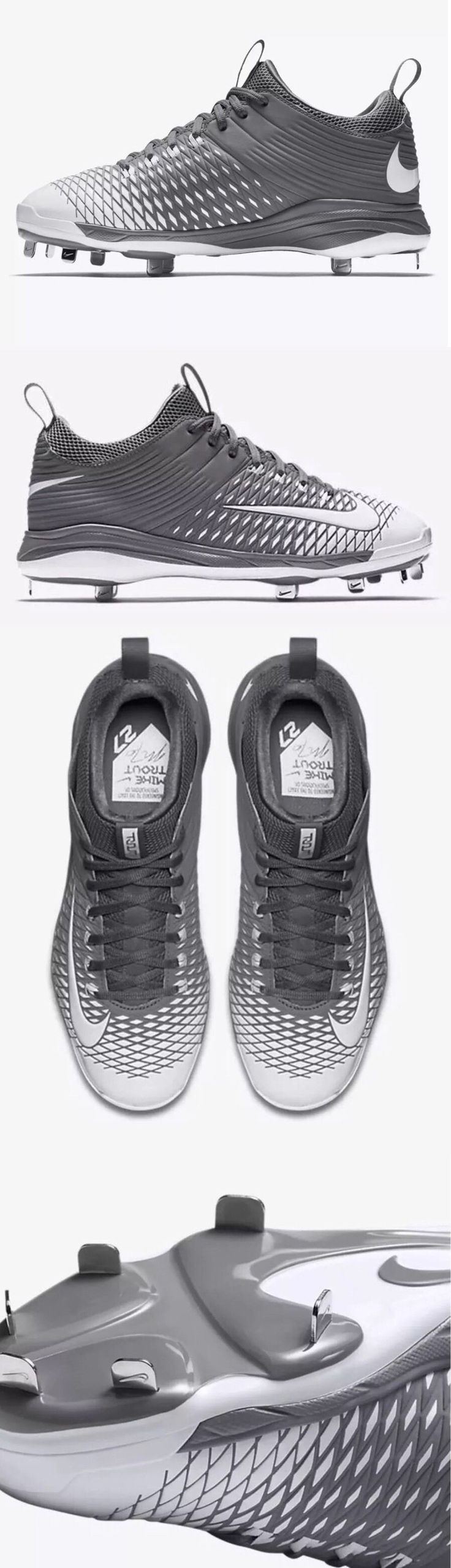 Mens 159059: New Nike Men S Lunar Trout 2 Pro Metal Baseball Cleats Gray White 807133-010 -> BUY IT NOW ONLY: $30 on eBay!