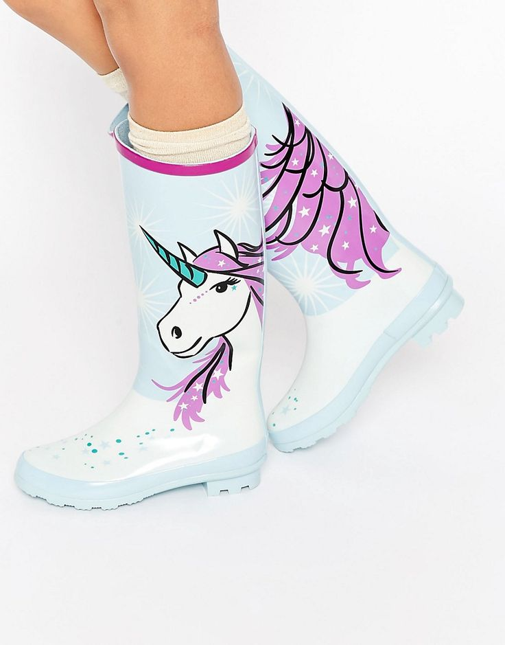 ASOS GOLD DUST Unicorn Wellies