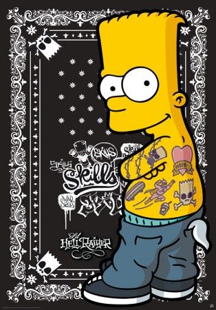 The Simpsons poster Bart Mad Skills http://www.abystyle-studio.com/en/simpson-posters/177-poster-affiche-the-simpsons-bart-mad-skills.html
