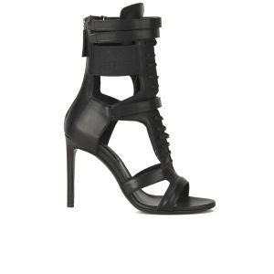 BOSS Hugo Boss Women's Jodi Leather Heeled Sandals - Black