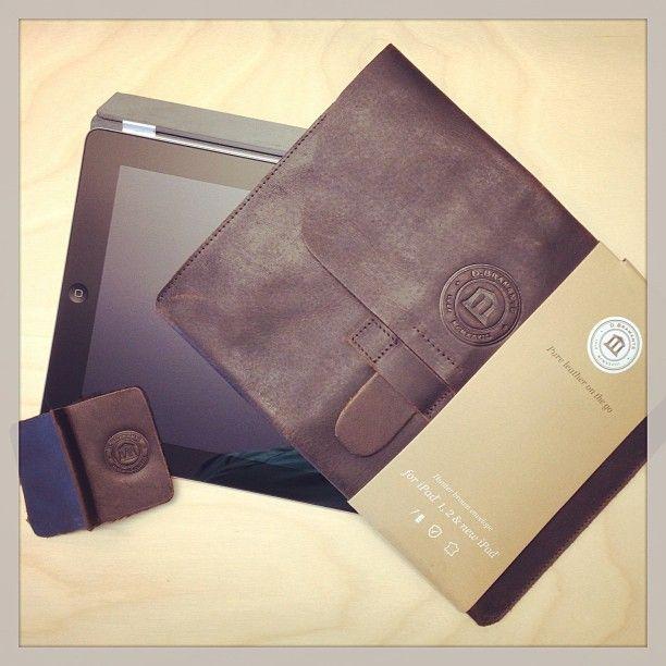 Hunter dark leather envelope for iPad by @Daniel O'Brien Cavalli on Instagram.