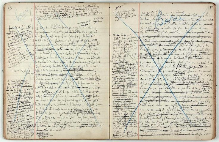 One page from the notebooks of Marcel Proust shows the extreme work that went into writing his masterpiece In Search of Lost Time