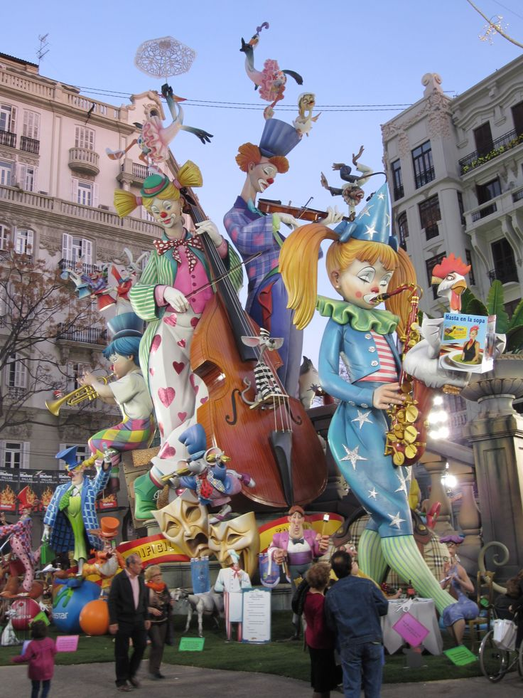 Las Fallas Festival. Valencia, Spain. I got to see the Fallas prior to the Festival, but didn't get to see them burn!