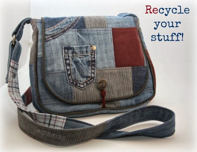 Tasche aus alten Hosen / Bag made from old trousers
