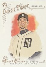 2014 Topps Allen Ginter Baseball SP #311 Anibal Sanchez, Detroit Tigers