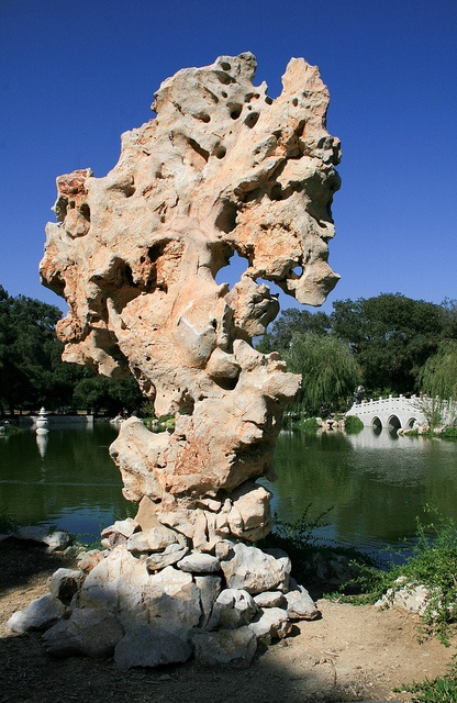 Tai Hu–style Rock at the Chinese Garden at the Huntington They had the coolest rock formations in the Chinese garden.