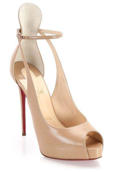 1a2bd495700 Christian Louboutin mascara 120 peep toe pumps.  christianlouboutin   nudeshoes  pumps  heels