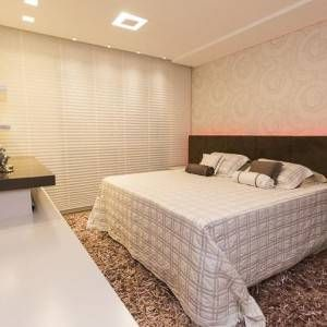 quartos de casal decorados com persiana