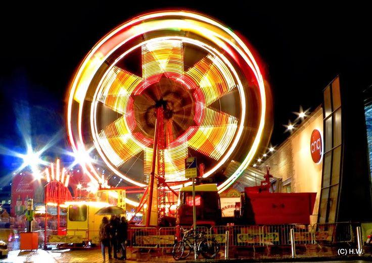 shutter speed fair   Christmas Fair at the IFSC Dublin Ireland A slow camera shutter speed ...