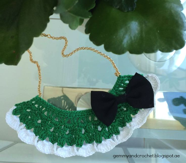 Cozy Bib Crochet Necklace