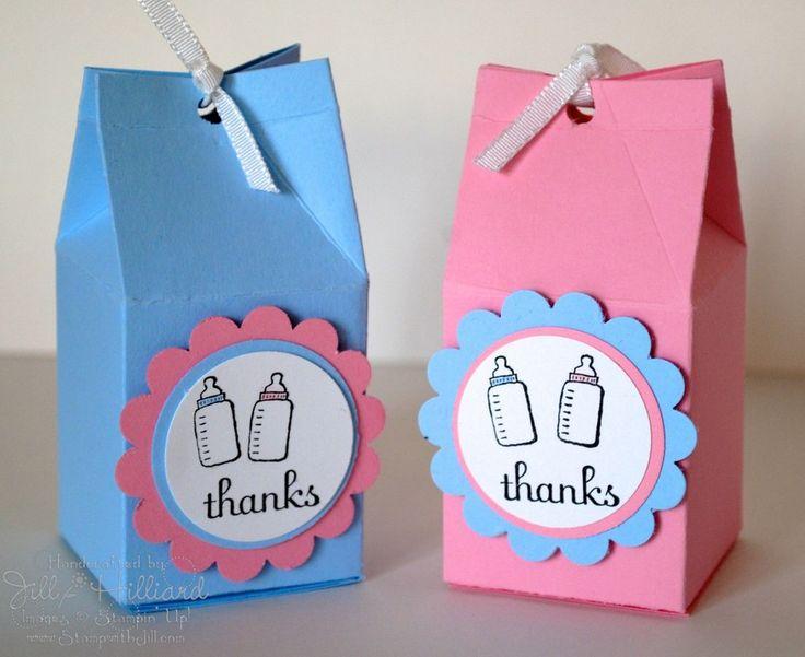 "Caja de ""leche"" como souvenirs de Baby Shower | Manualidades para Baby Shower"