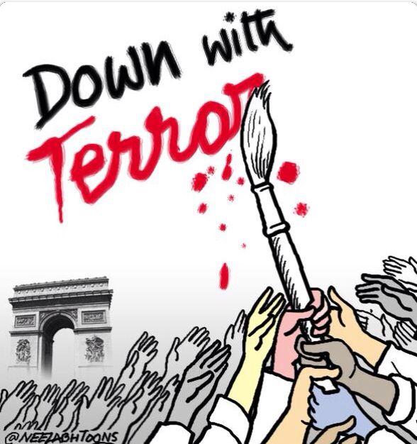 Cartoonists take up pens against terror