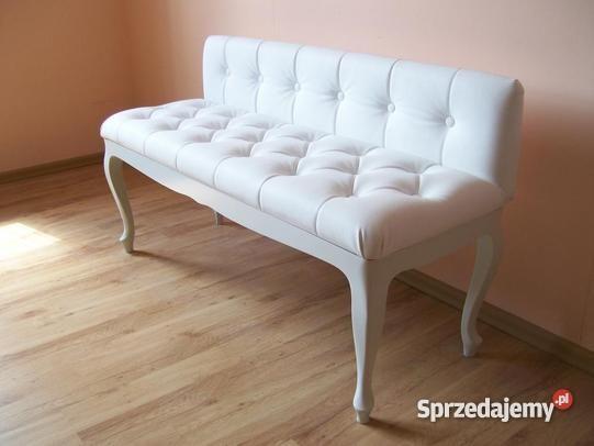 Ławka Ludwik pikowana z oparciem, ławeczka, sofka, sofa, stylowa, glamour