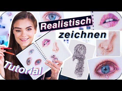 REALISTISCH ZEICHNEN – Tutorial für Anfänger // Tipps für Augen, Haare, Lippen & Wimpern // I'mJette – YouTube