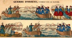 Russian-Ottoman Naval Battle, Danube, Crimean War 1854