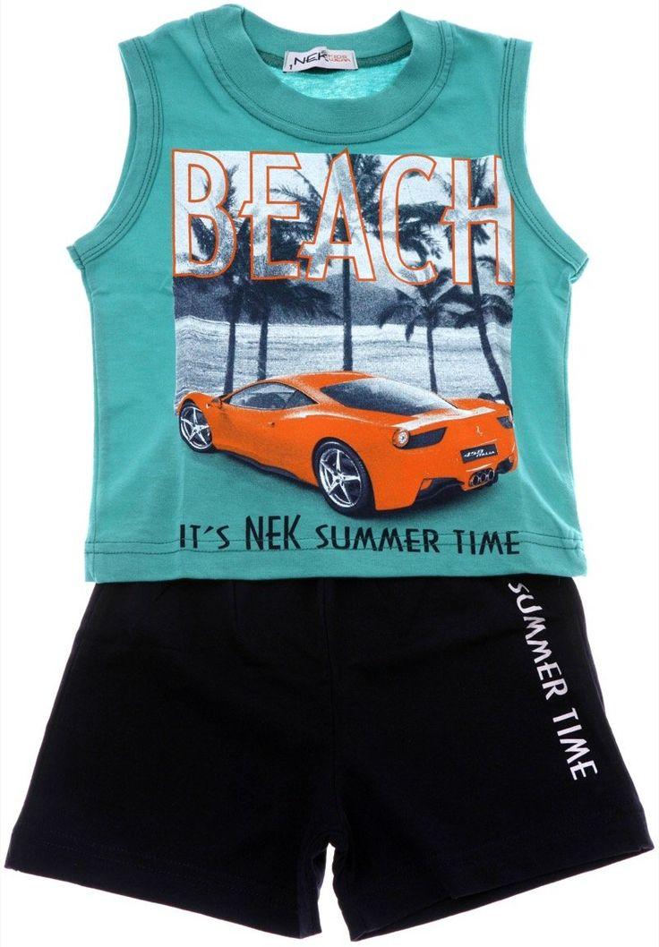 Nek παιδικό σετ μπλούζα-παντελόνι βερμούδα «Beach» - Παιδικά ρούχα AZshop.gr