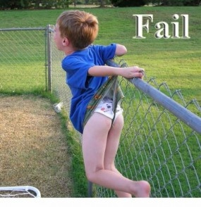 Somebody actually made this kid wait to have his picture taken before they got him down. Nice.