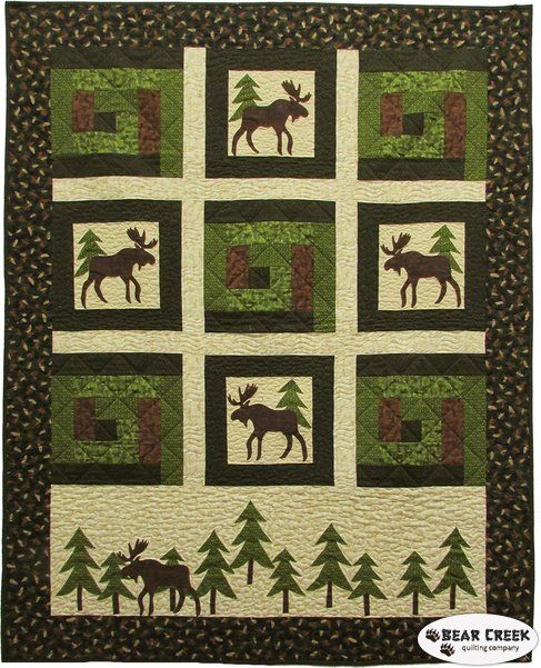 Moose on the Loose - Moose in the Cabin Free Pattern by Benartex