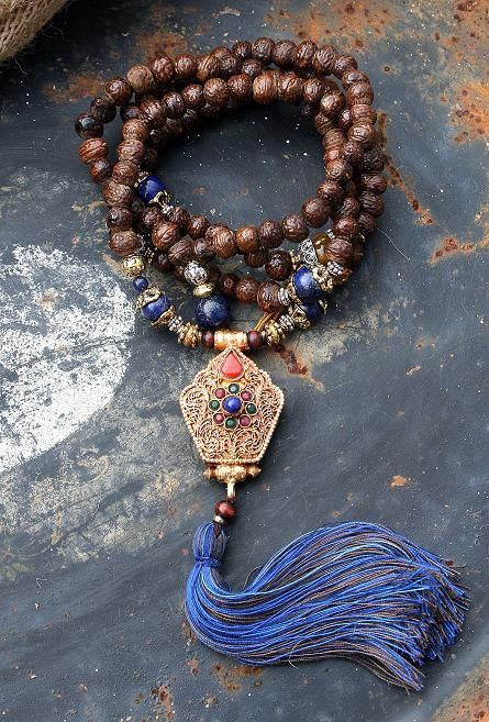 Raktu seed Mala Necklace - Made by look4treasures