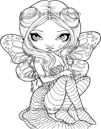 jasmine becket griffith stamps google search art inspiration fairy coloring pages blank. Black Bedroom Furniture Sets. Home Design Ideas