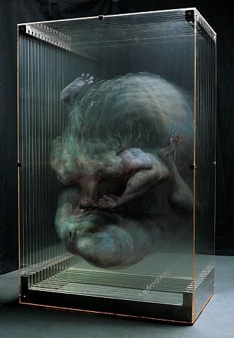 Xia Xiao Wan: Genius artist who paints each part of a painting onto layered panes of glass to create a smokey 3D image...