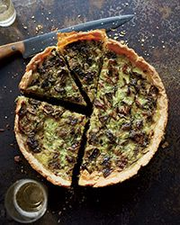 Among chef Billy Allin's favorite cold-weather recipes is this quiche, packed with cheese and quartered brussels sprouts.  Slideshow: Quiche Recipes