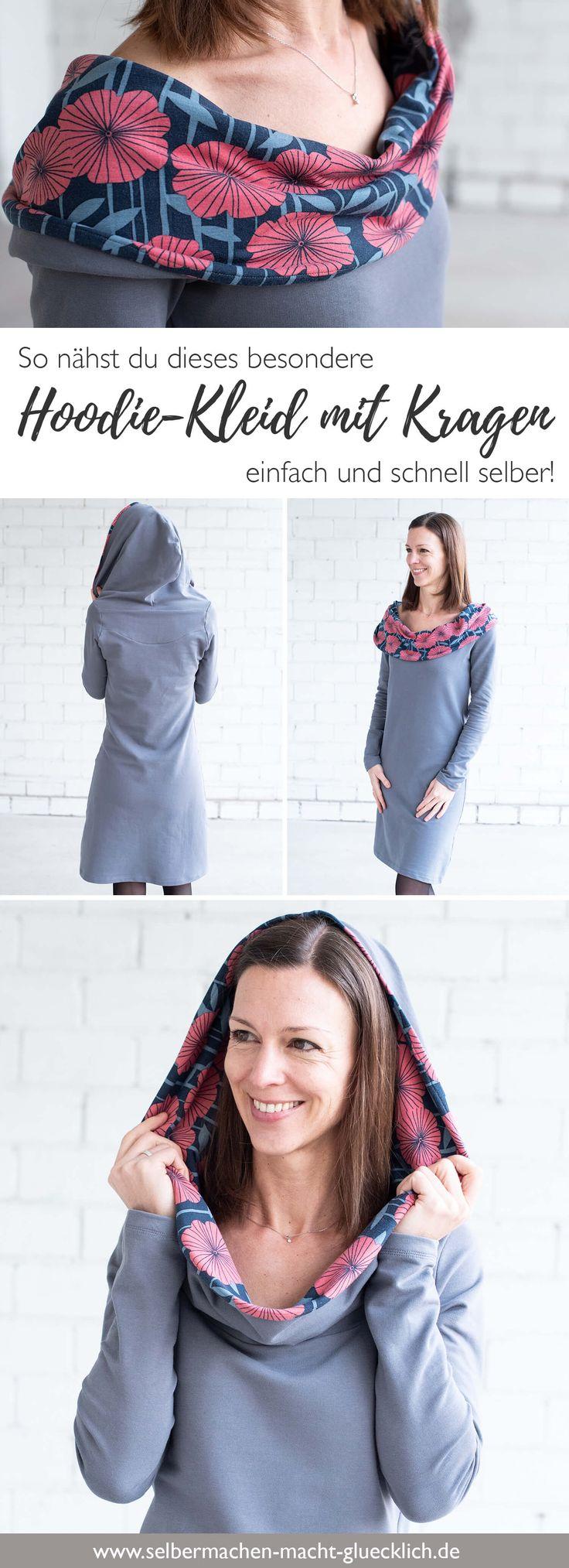 Hoodie-Kleid: Näh dir dieses besondere Schnittmuster einfach selber!
