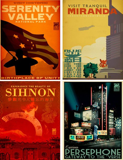 firefly / serenity travel posters