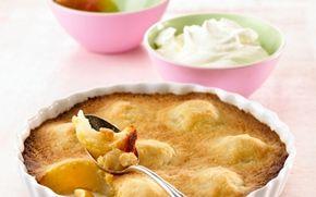 Pæretærte med smuldredej Uventede gæster? Denne tærte er både hurtigt og nem at lave.