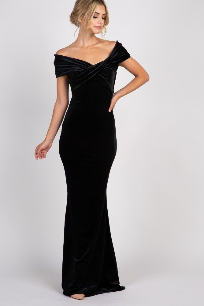 Off Shoulder Mermaid Evening Gown