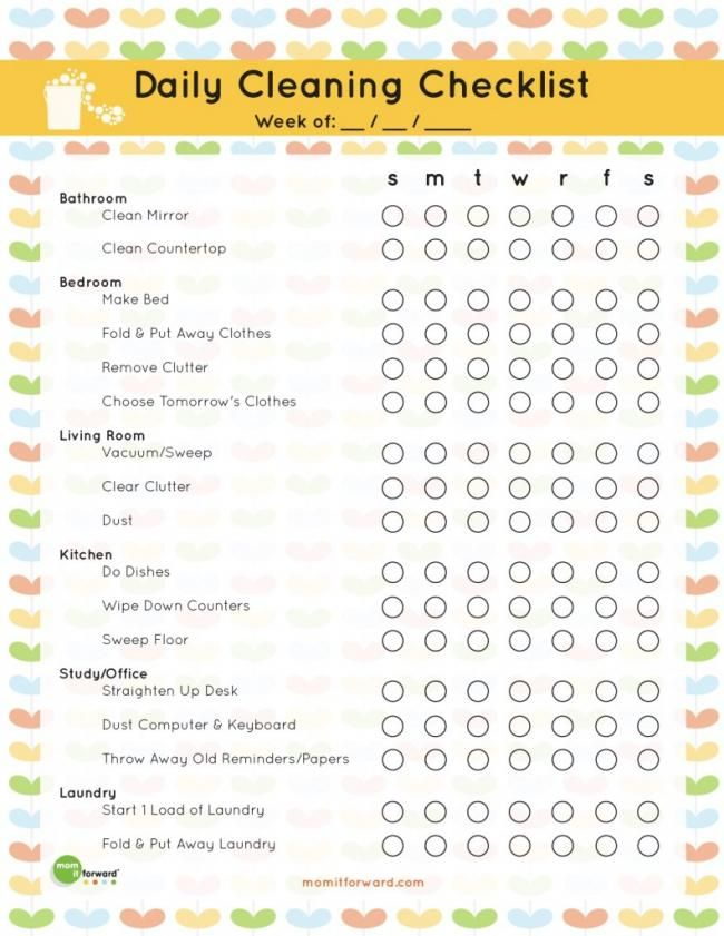 20 Free Printables To Organize Everything In Your Home Cleaning