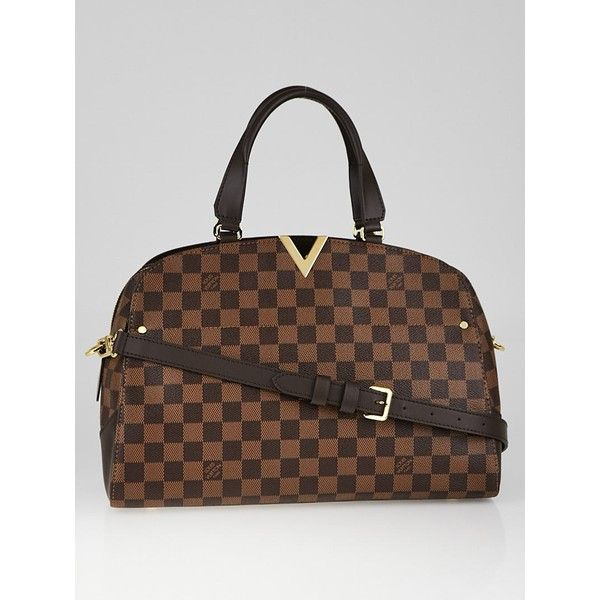 Pre-owned Louis Vuitton Damier Canvas Bowling Bag ($1,895) ❤ liked on Polyvore featuring bags, handbags, canvas man bag, louis vuitton, louis vuitton purse, print handbags and bowler handbag