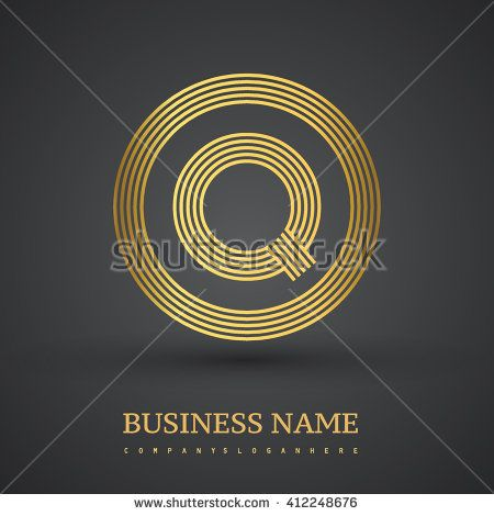 Elegant gold letter symbol. Letter Q logo design. Vector logo design template elements  for company identity. - stock vector
