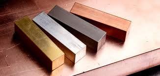 Blocks of Metal. Heavy, Shiny