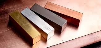 Blocks of Metal. Heavy, Shiny