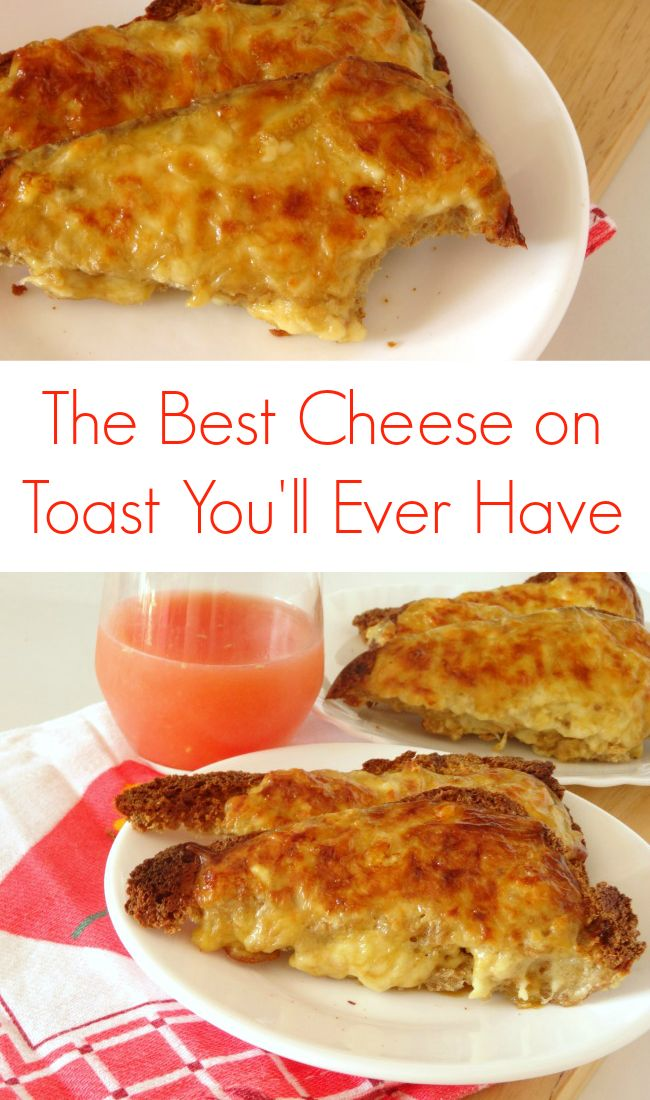 The Best Ever Cheese on Toast #Recipe - this fast and simple cheese on toast recipe is pure comfort #breakfast food! It's like Welsh Rarebit but it doesn't include beer and is a lot easier to make. Great for a laid-back weekend brunch or lunch! | www.pinkrecipebox.com