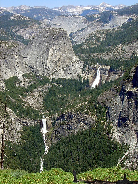 Nevada and Vernal Falls, California