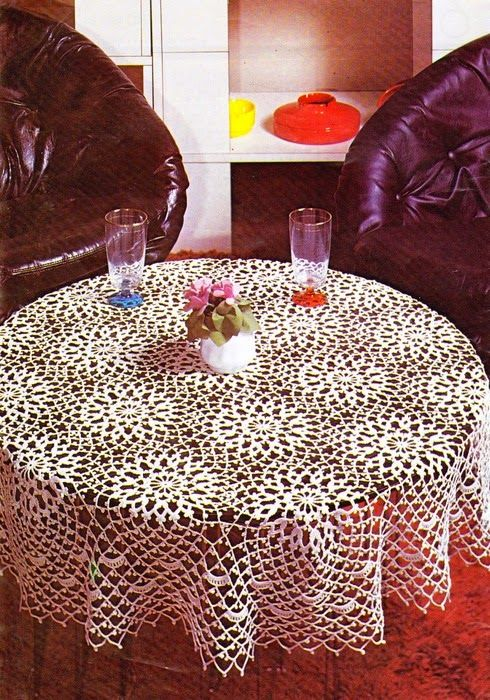 crochet patterns tablecloth