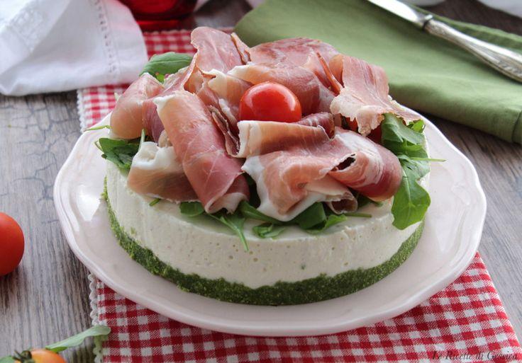 antipasto torta salata al formaggio con prosciutto crudo anche bimby