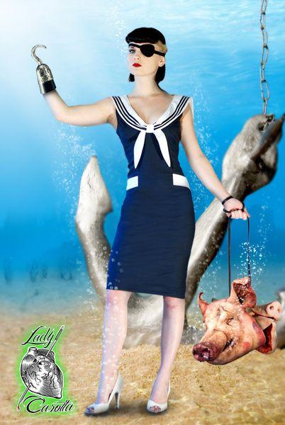 Lady+Carotta+Sukienka+Hey+Sailor+w+Lady+Carotta+na+DaWanda.com